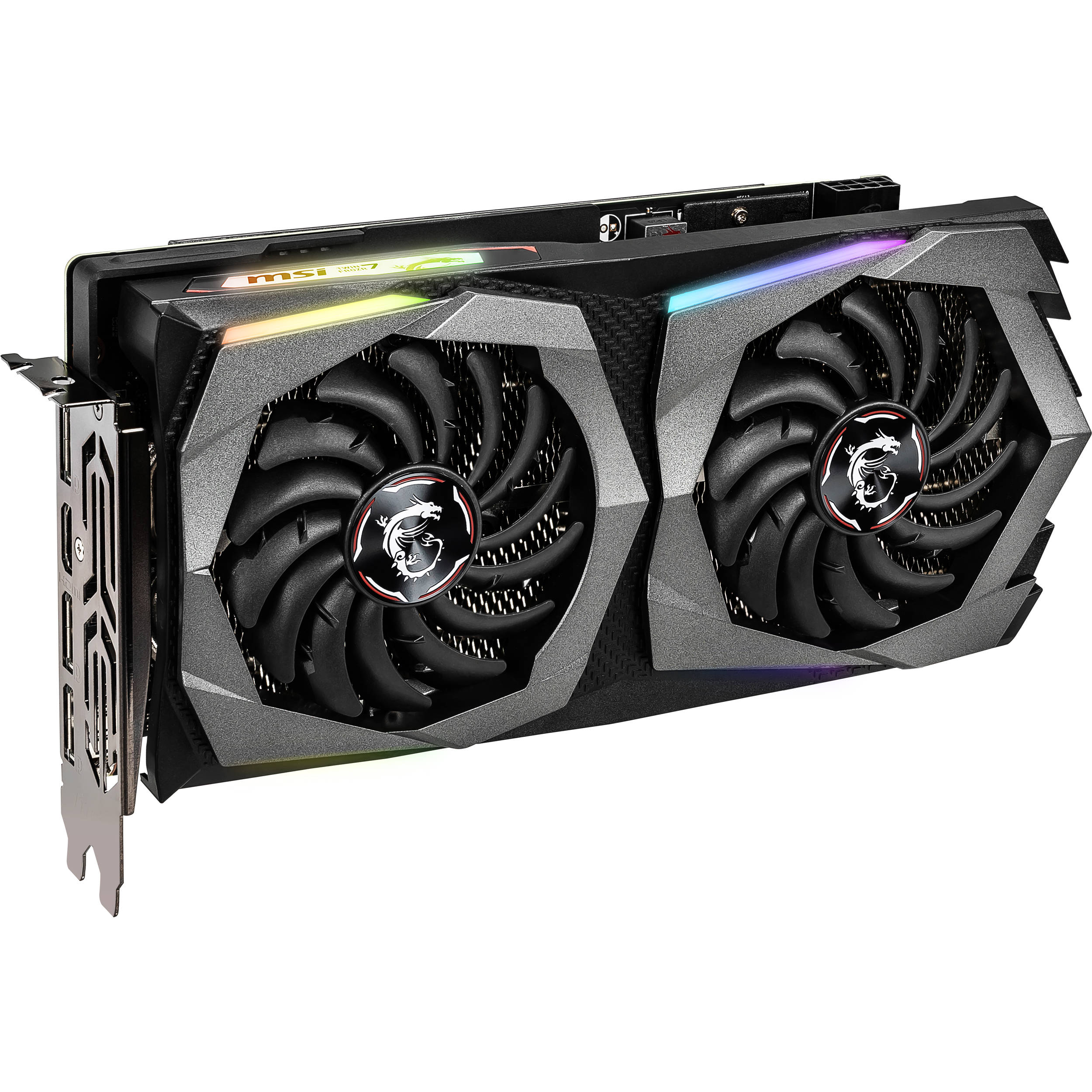 MSI Gaming GeForce RTX 2060 6GB GDRR6 192-bit HDMI//DP Ray Tracing Turing Architecture VR Ready Graphics Card RTX 2060 Ventus XS 6G OC