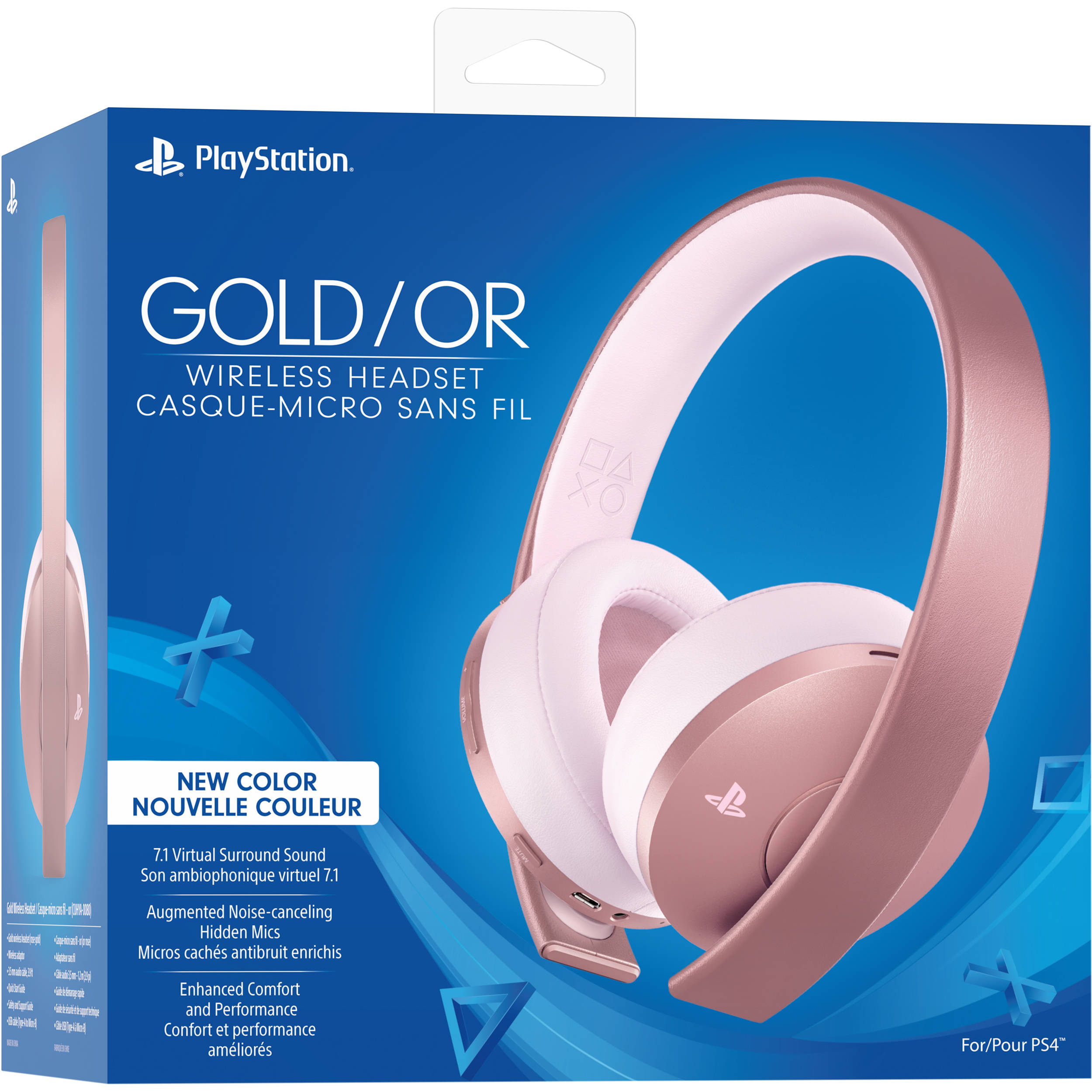 Sony Playstation Gold Wireless Headset Rose Gold 3004396 B H
