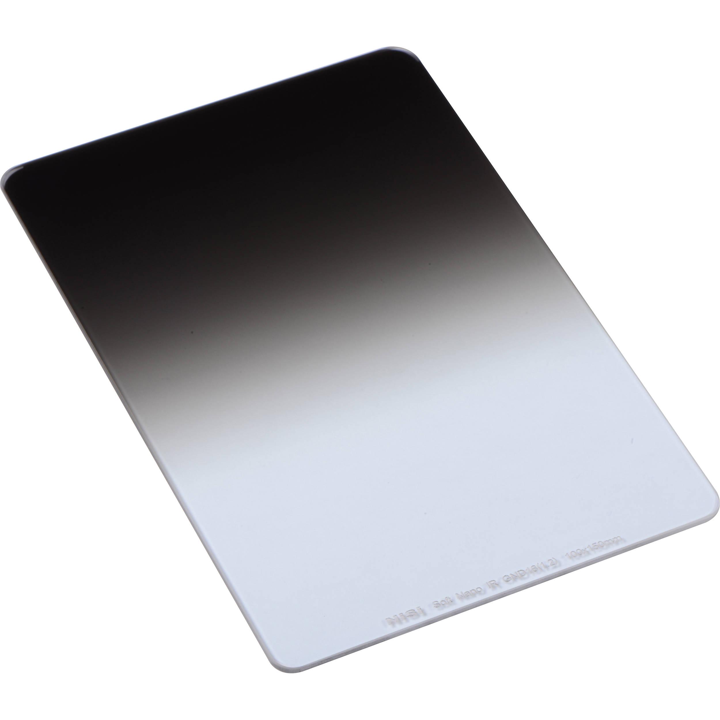 Black Soft IR GND Ikan Soft Graduated Neutral Density Lens Filter 1.2 100x150 16 NiSi