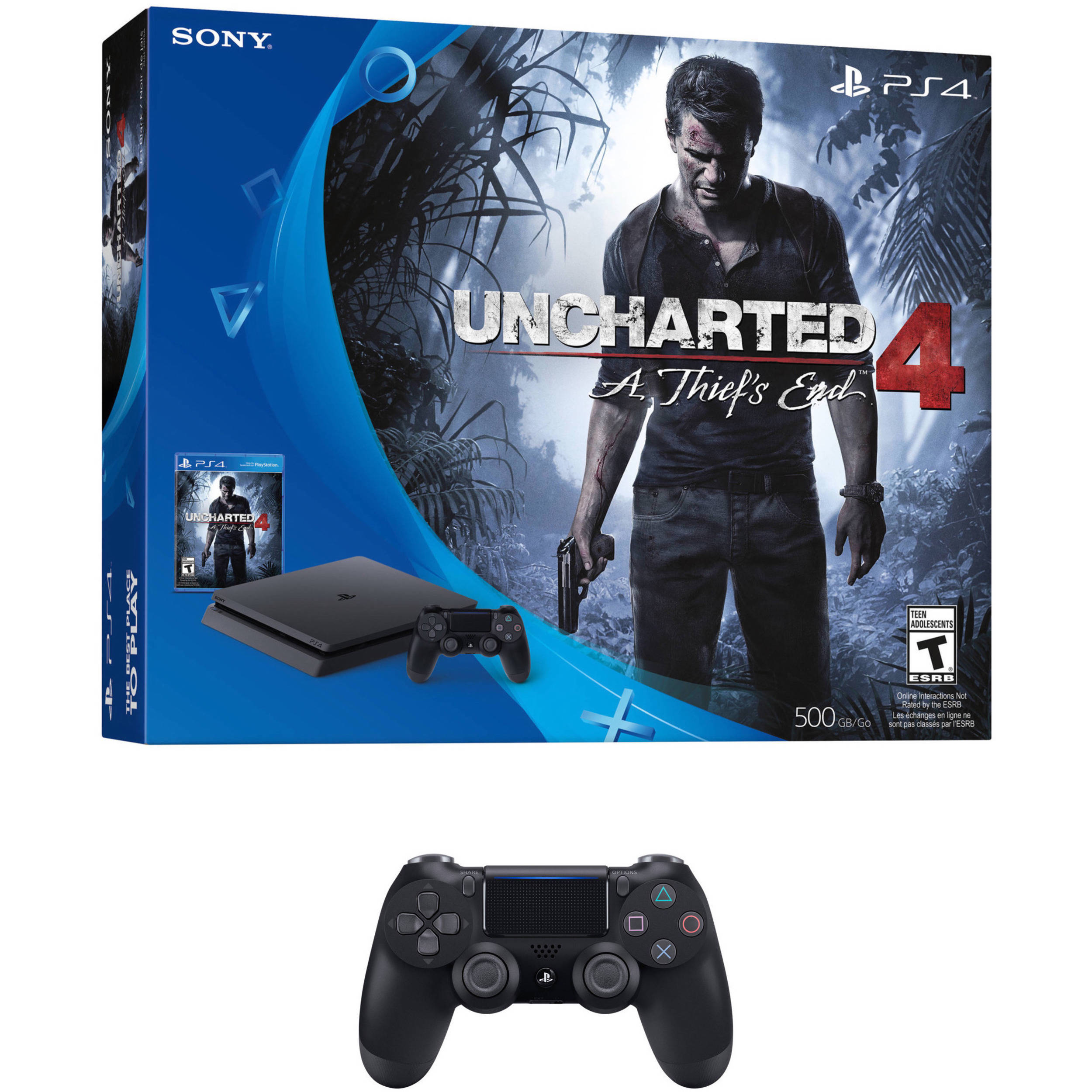 Sony Playstation 4 Slim Uncharted 4 Bundle With Additional B H