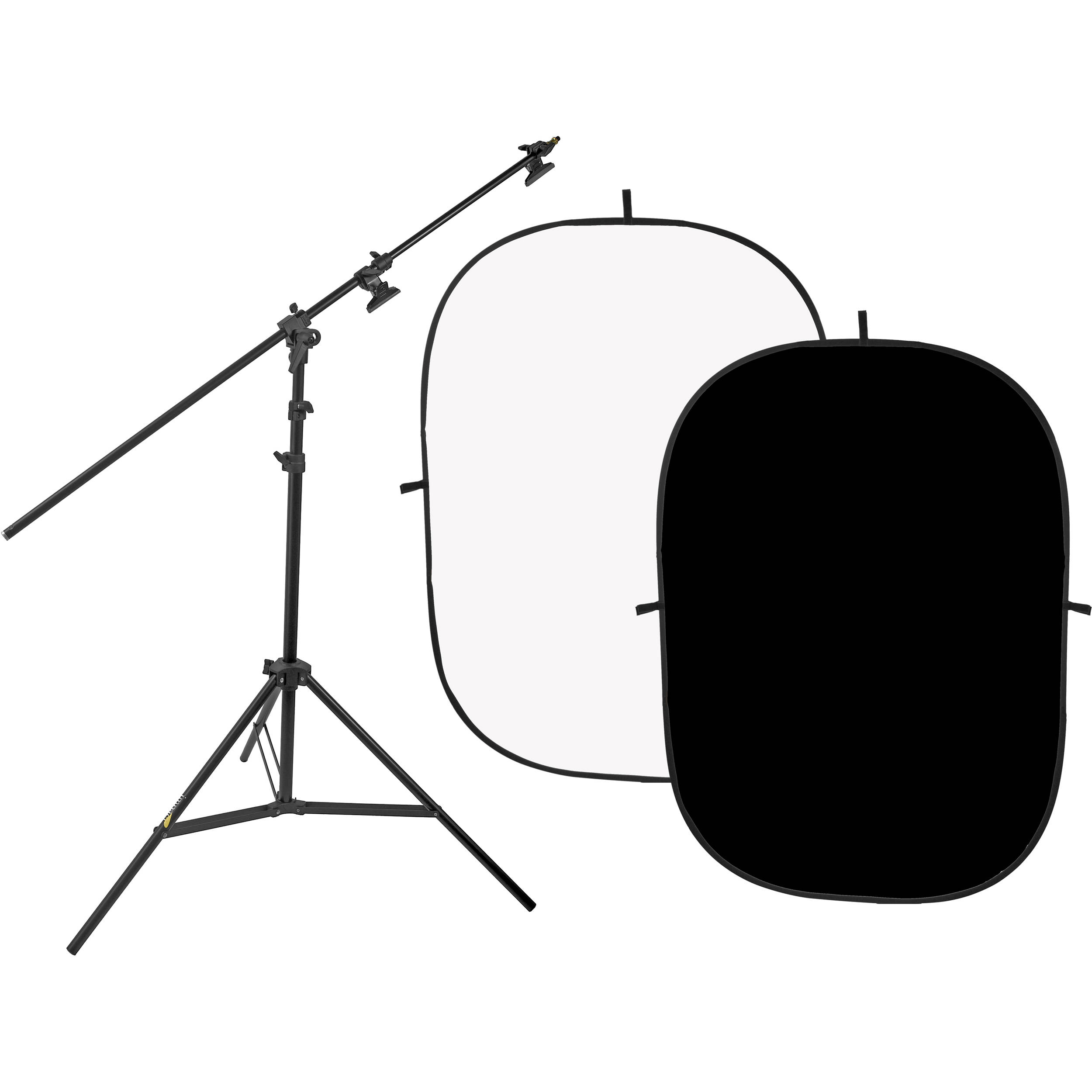 5 x 7/' Impact Collapsible Background Black//White