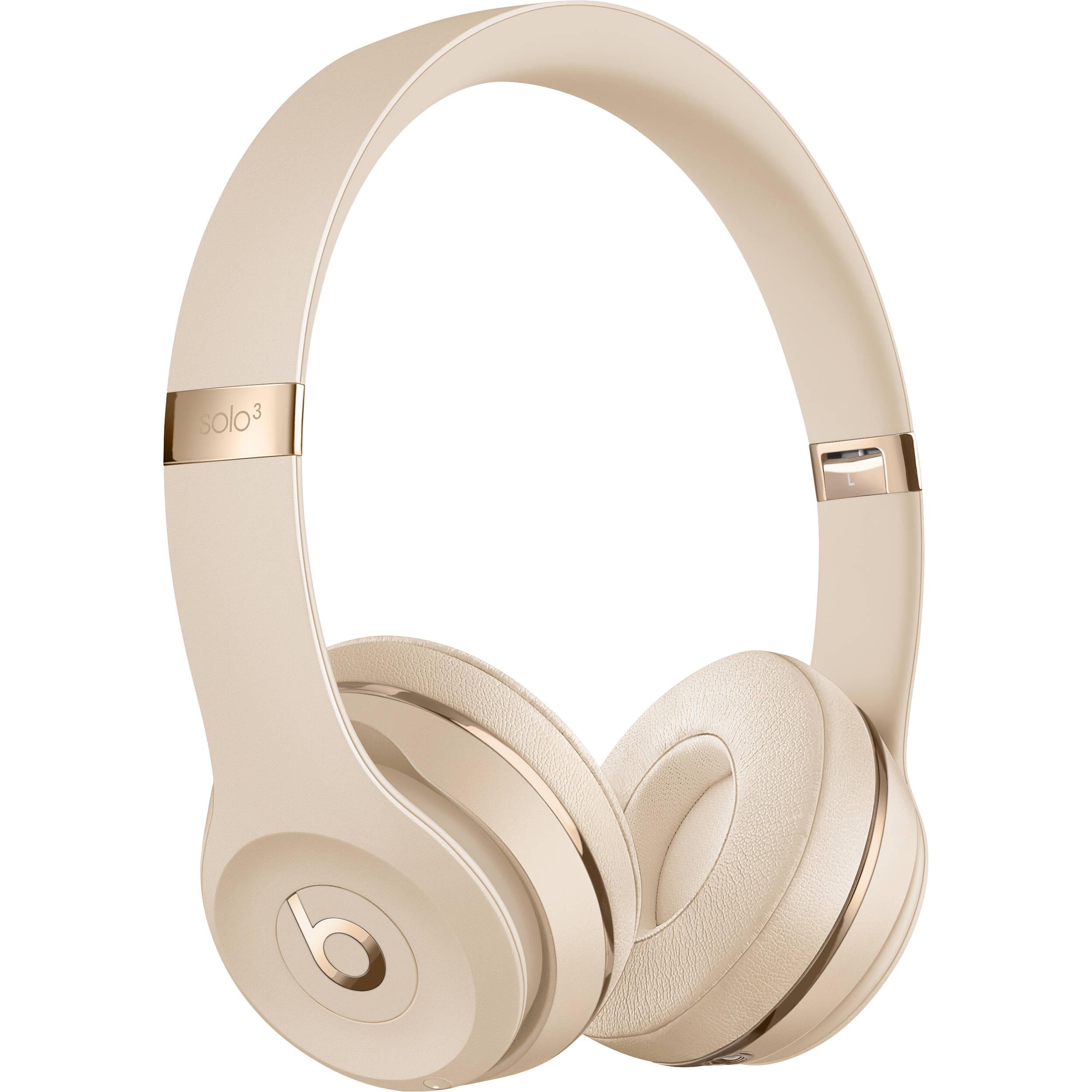 Beats By Dr Dre Solo3 Wireless Headphones Satin Gold Mx462lla