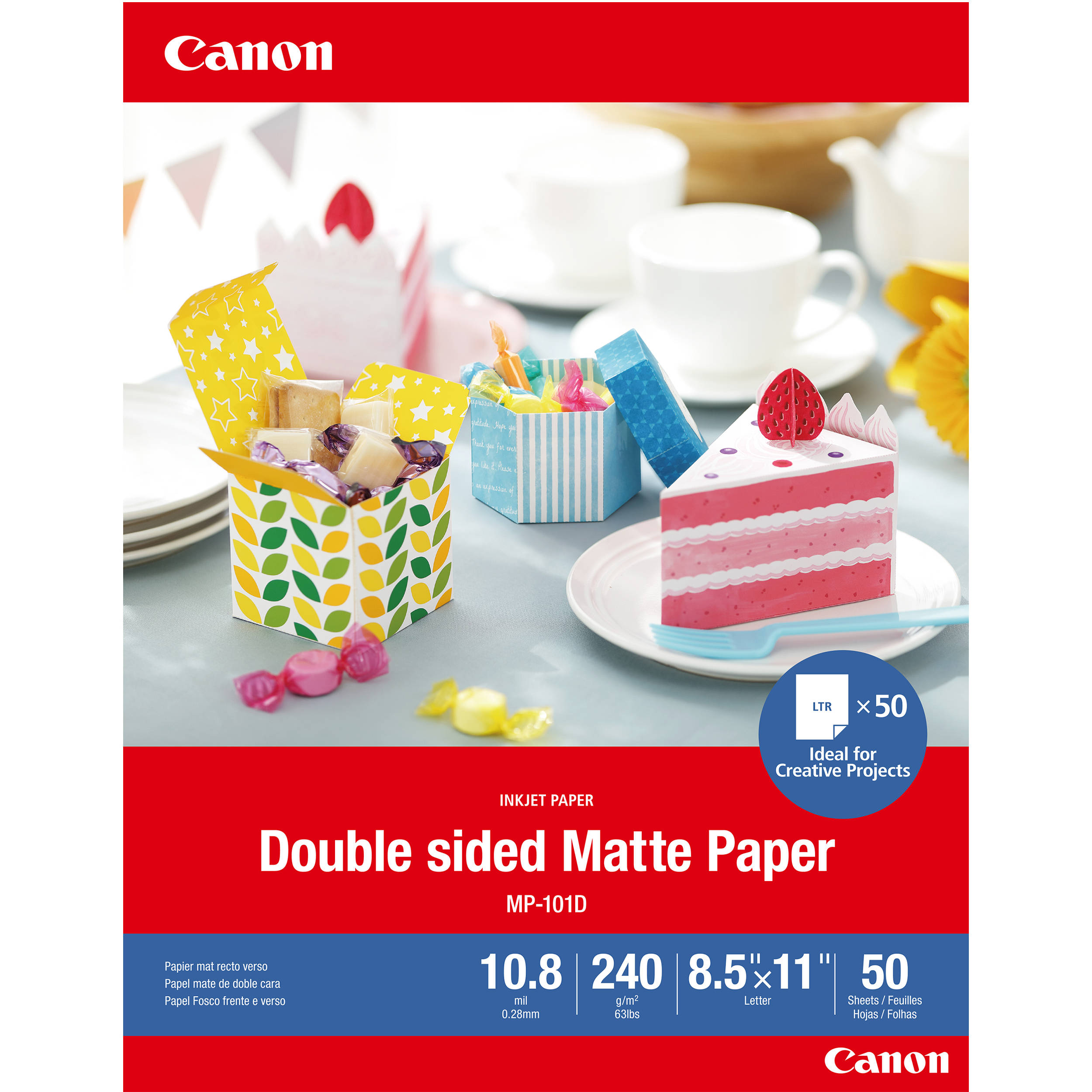White 120 Sheets//Pack Product Category: Paper /& Printable Media//Printer Paper Matte Photo Paper 4 X 6 45 Lb 2 Pack Canon
