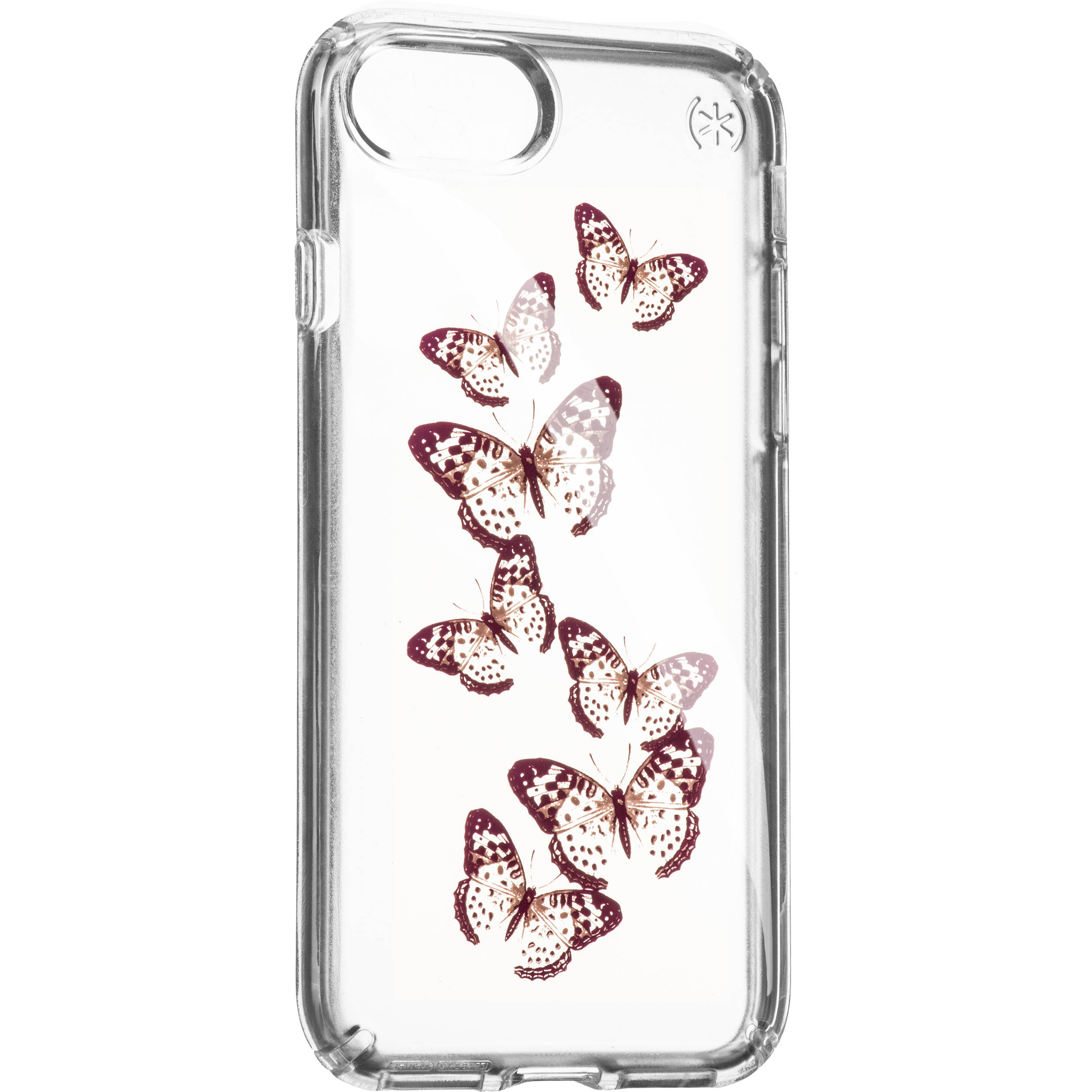 Speck Presidio Clear Print Case for iPhone 7 (Brilliant Butterflies Rose Gold/Clear)