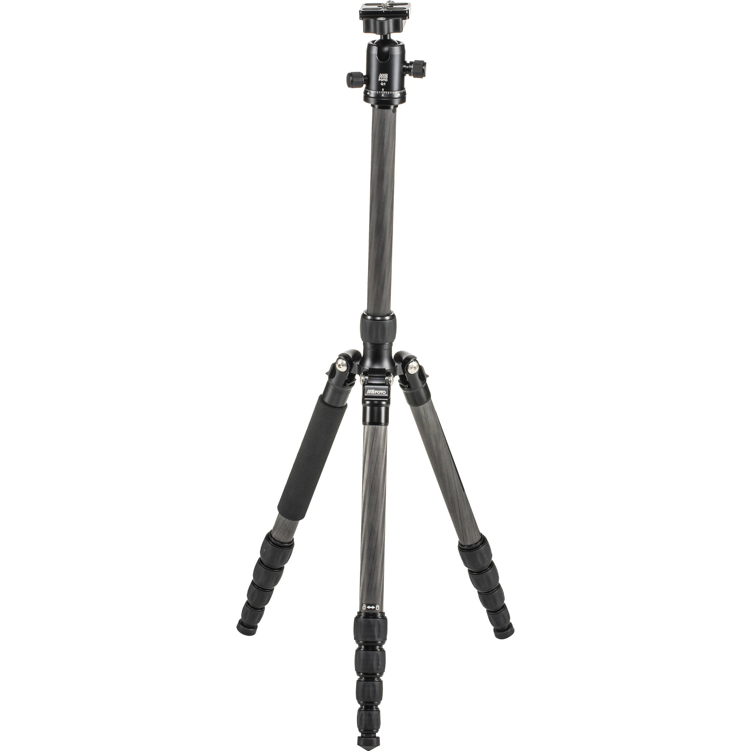 Carbon Fiber Travel Tripod Professional Lightweight Travel Portable Folding Design 360/° Panorama Ball Head with Quick Release Plate Black for Travel and Work