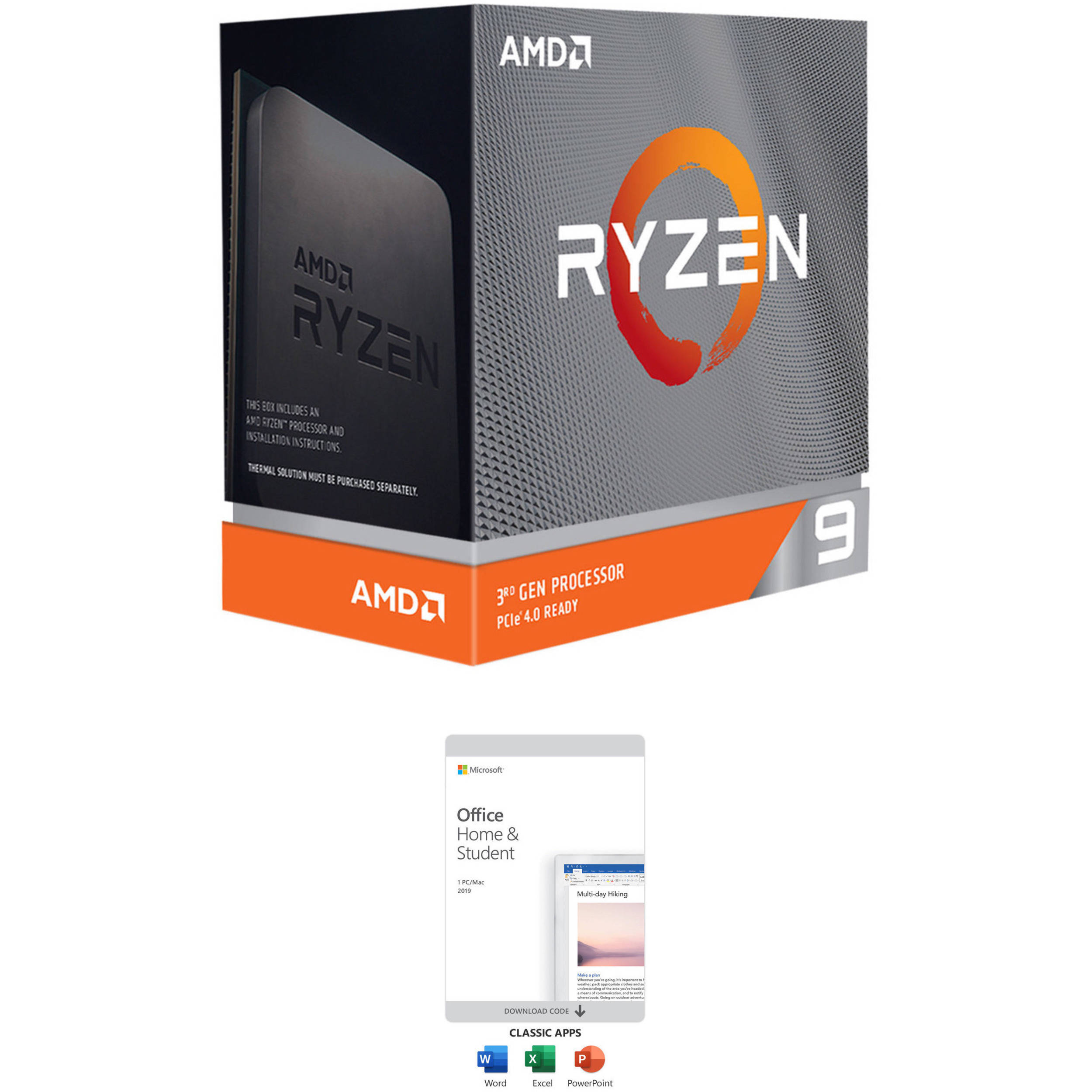 Amd Ryzen 9 3950x 3 5 Ghz 16 Core Am4 Processor With Microsoft