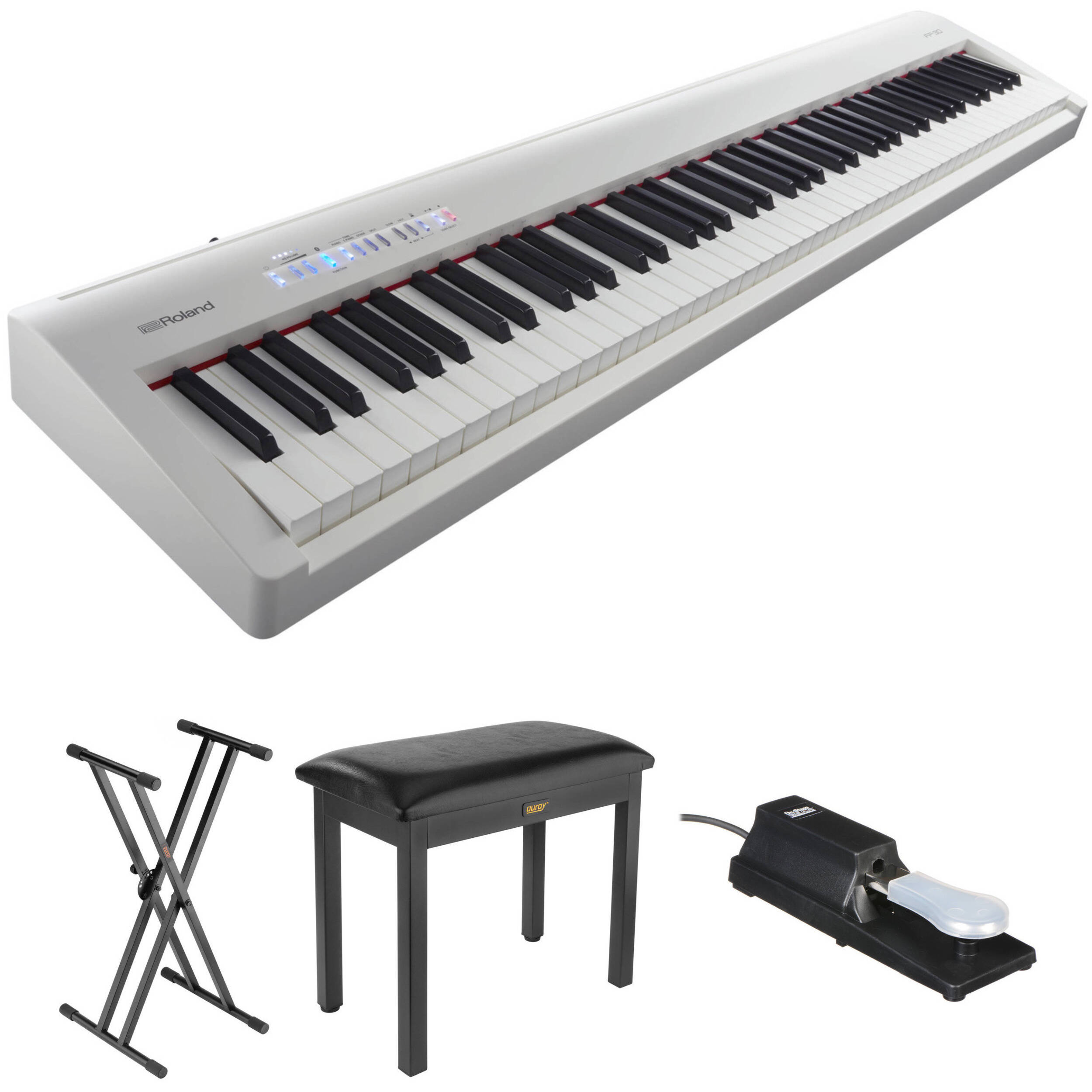 Roland Fp 30 Digital Piano Kit With Stand Bench And Sustain