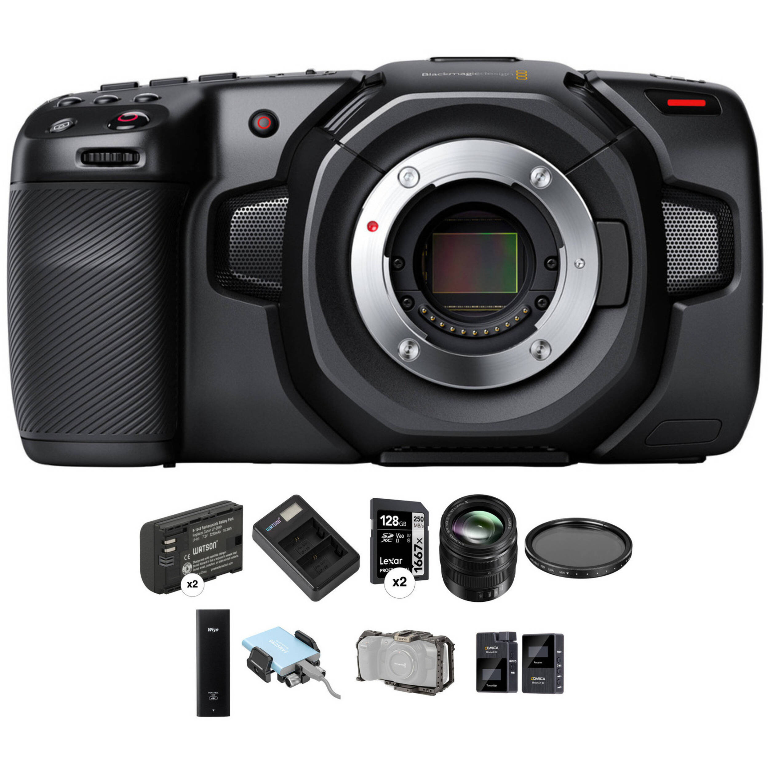 Blackmagic Design Pocket Cinema Camera 4k Kit With 12 35mm Zoom