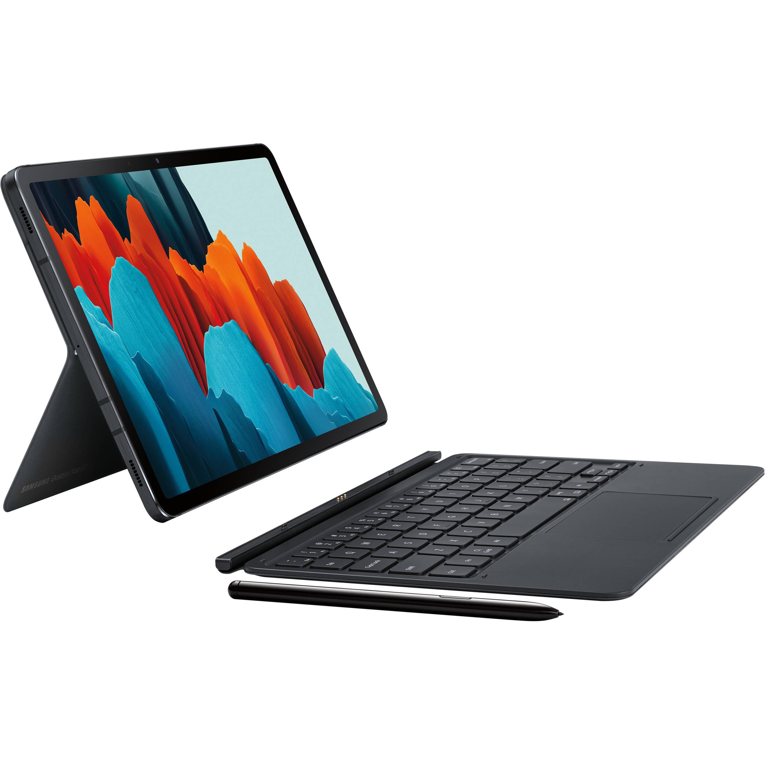 Samsung Book Cover Keyboard for Galaxy Tab S7 EF-DT870UBEGUJ B&H