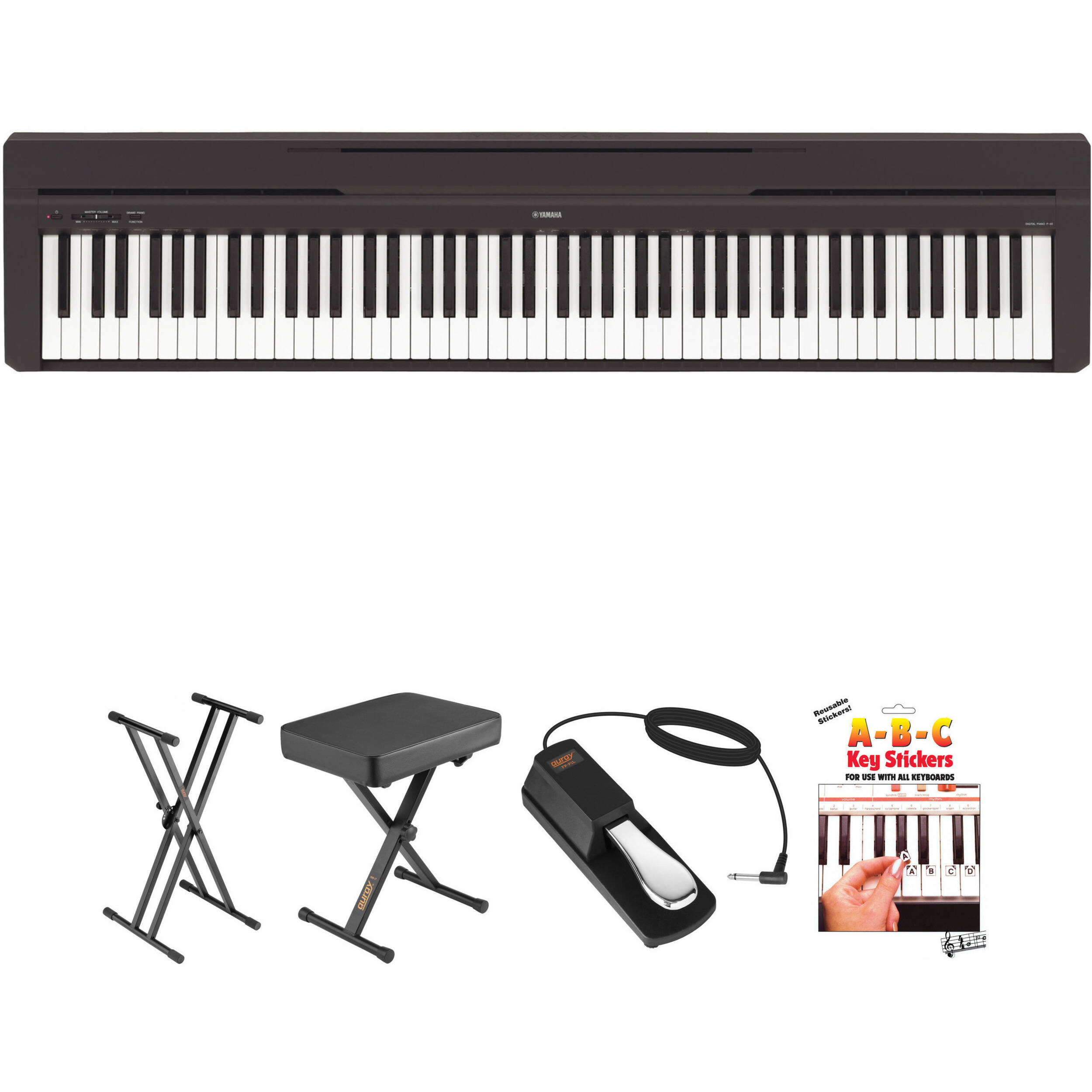 Deluxe Digital Piano Dust Cover Black For Yamaha P45 P115