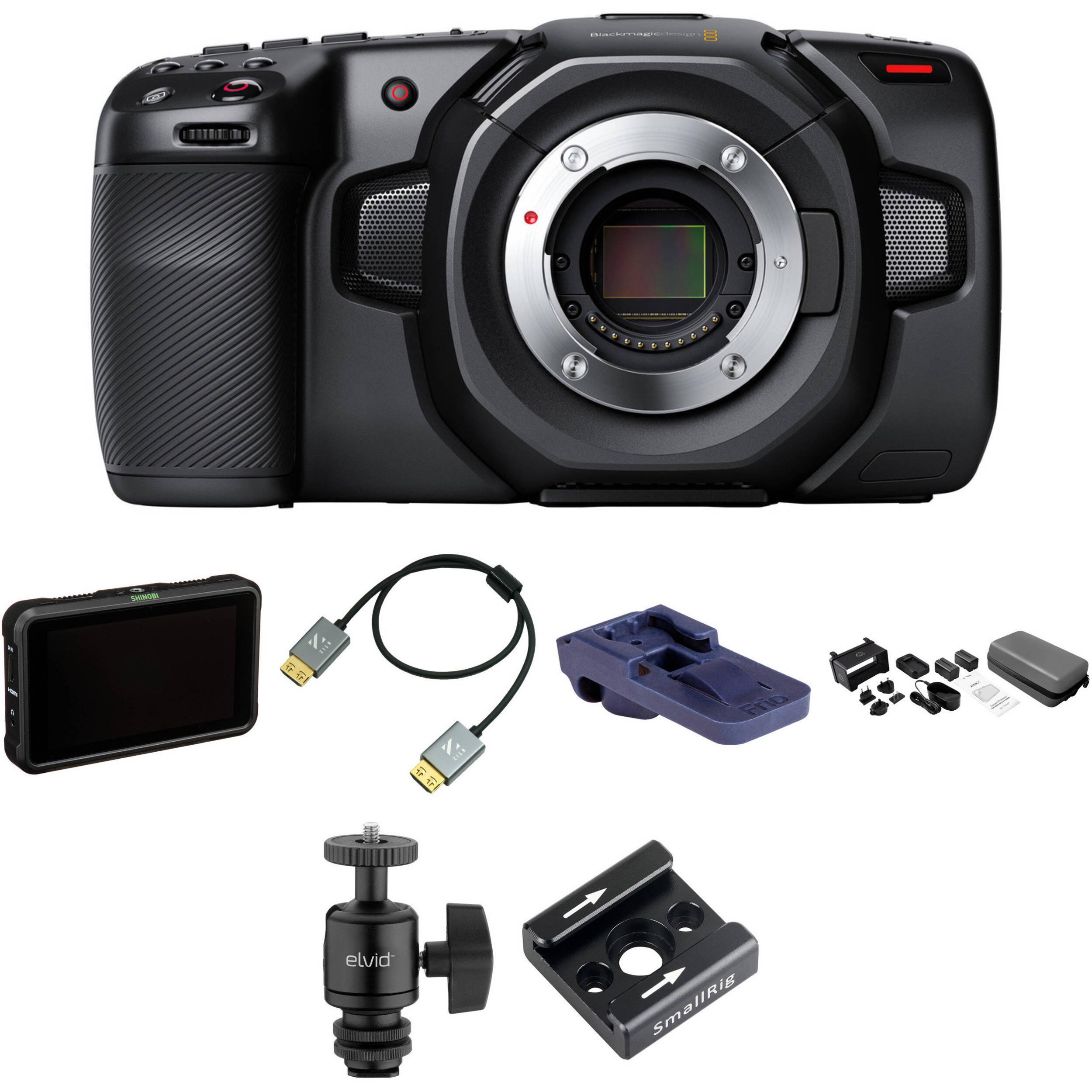Blackmagic Design Pocket Cinema Camera 4k Pro Monitoring Kit