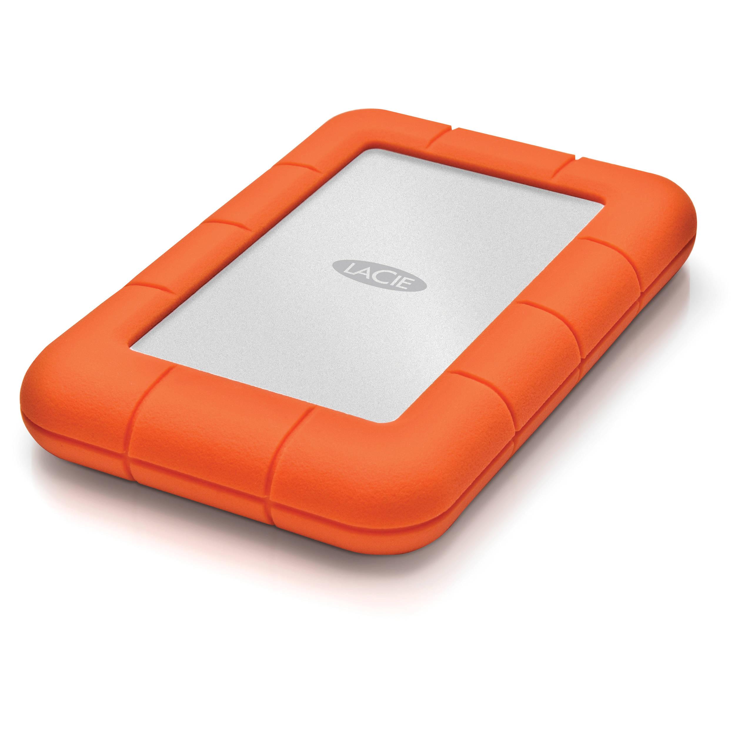 Lacie 1tb Rugged Mini Portable Hard Drive 301558 B Amp H Photo