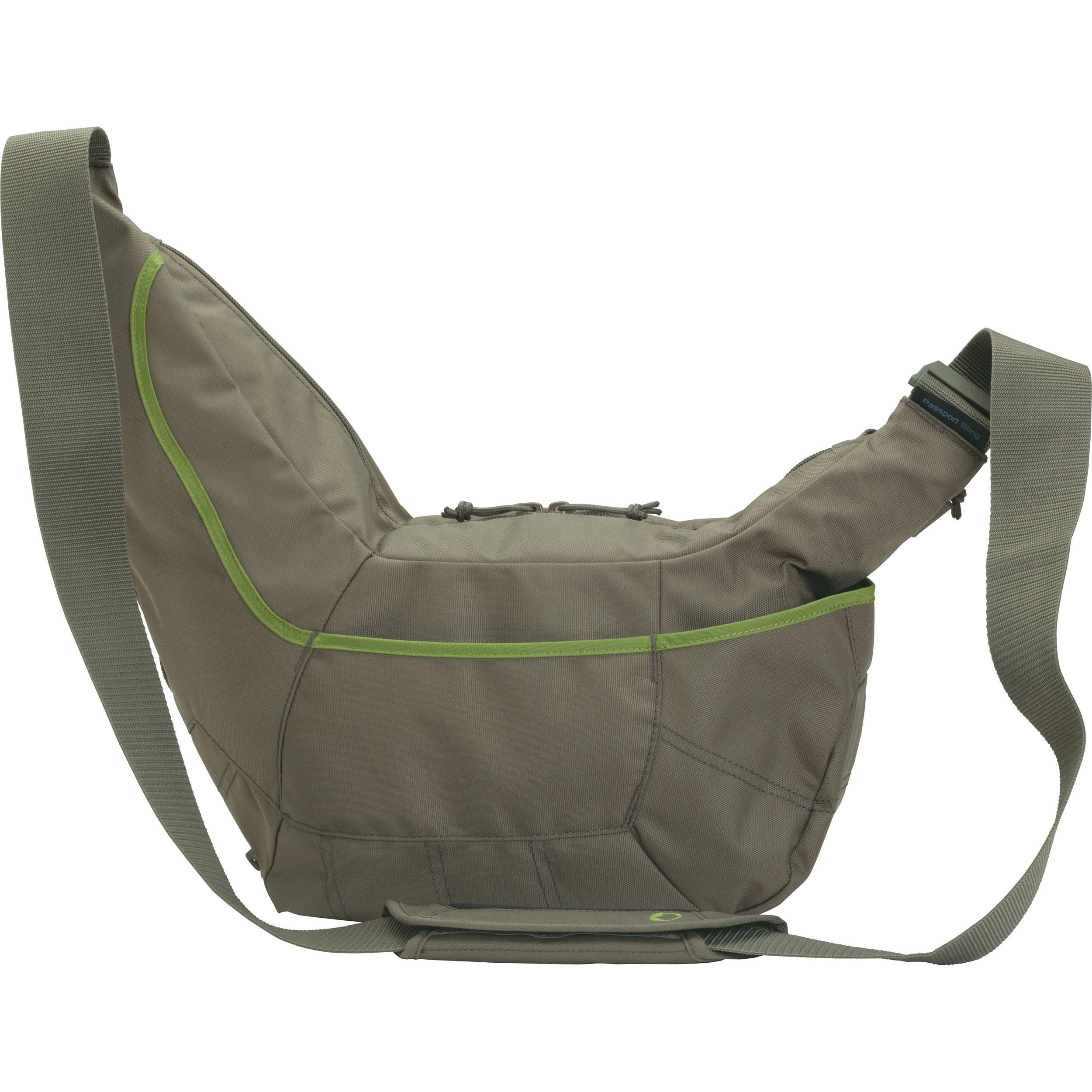 lowepro passport sling ii bag mica green lp36466 b h photo