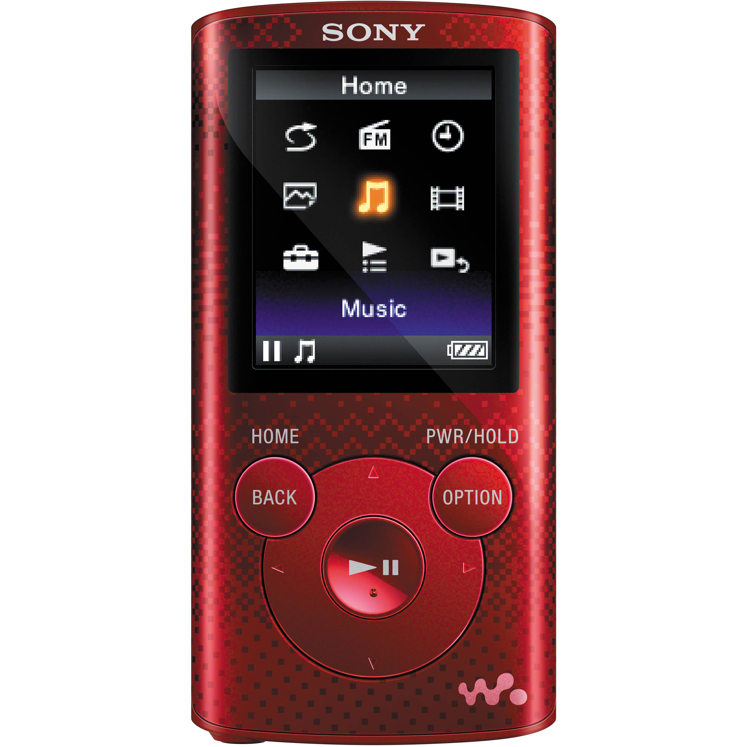 sony 4gb nwz e383 series walkman mp3 player red nwze383red b h. Black Bedroom Furniture Sets. Home Design Ideas