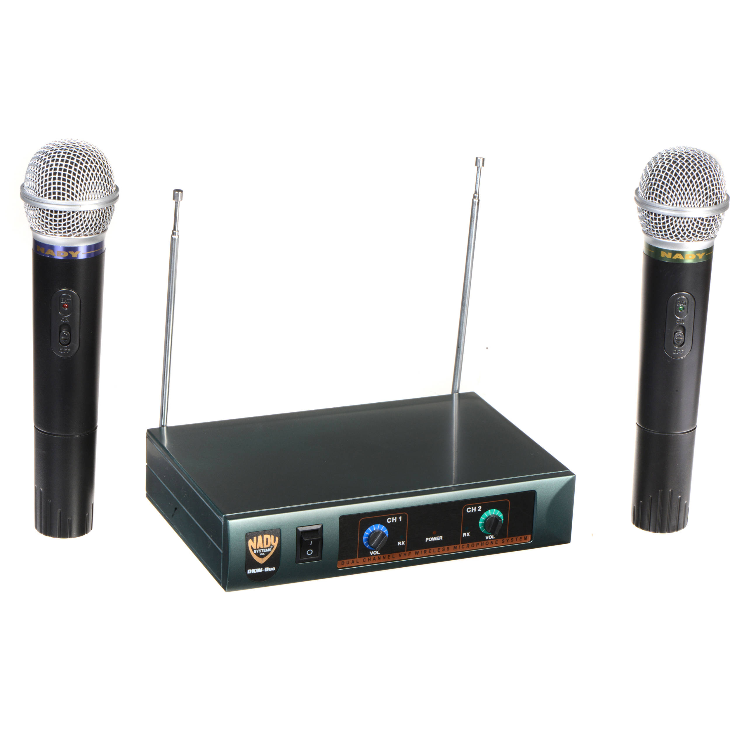 Nady DKW-Duo Dual HT Handheld Mics Wireless Microphone System