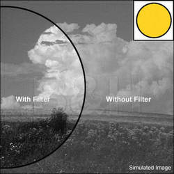 "Kodak 4x4"" (100mm) #12 Deep Yellow Wratten Gel Filter for Black & White Film"