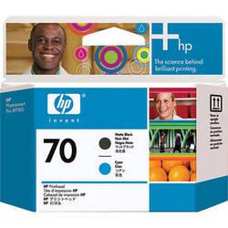 HP 70 Matte Black & Cyan Printhead