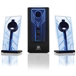 GOgroove BassPULSE 2.1 Stereo Speaker with Powered Subwoofer - Blue/Black