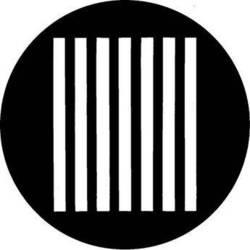 Rosco Steel Gobo #7090 - Bars - Size E