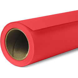 """Savage Widetone Seamless Background Paper (#08 Primary Red, 107"""" x 36')"""