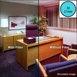 """LEE Filters 4x4"""" Cyan - CC30C - Color Compensating Polyester Filter"""