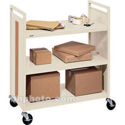 Bretford Mobile Flat Shelf Book & Utility Truck (Putty Beige)