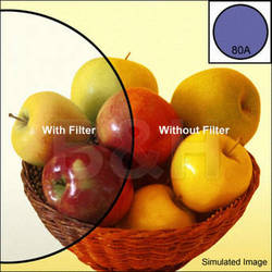 B+W 77mm KB15 (80A) Color Conversion Multi-Coated (MC)   Glass Filter