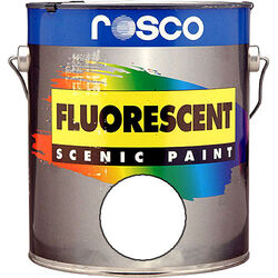 Rosco Fluorescent Paint (White, Matte, 1 Gallon)