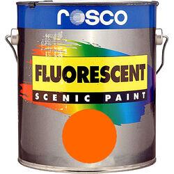 Rosco Fluorescent Paint (Orange, Matte, 1 Gallon)