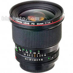 Canon Wide Angle 24mm f/1.4 L FD Manual Focus Lens