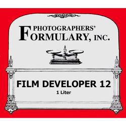 Photographers' Formulary #12 Developer for Black & White Film - Makes 1 Liter