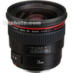 Canon Wide Angle EF 24mm f/1.4L USM Autofocus Lens