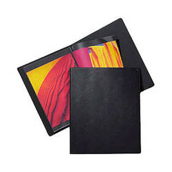 "Prat Classic Rod Binder - 9. 5 x 12.5"" - Black - Ten Sheet Protectors"