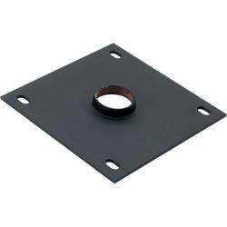 "Chief 8 x 8"" Ceiling Plate with 1.5"" NPT Fitting (Black)"