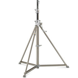 Avenger Super Wind-up 40 Stand with Braked Wheels (Stainless/Chrome-plated, 12.6')