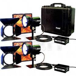 Frezzi 200 Watt Super-Sun Gun HMI 2 Light Kit (30V DC)
