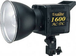 SP Studio Systems Excalibur 1600 - 160 Watt/Second AC/DC Monolight (120VAC/12VDC)