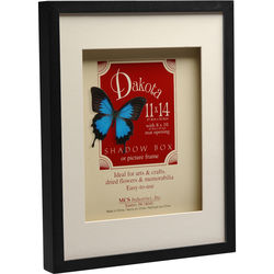 "MCS Dakota Shadow Box Frame - 11 x 14"", Black"