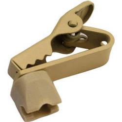 Shure Swiveling Lapel Dual Tie Clips (Tan)