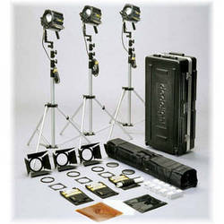 Dedolight Dimmable HMI 3 Light Kit with Stands (90-260V)