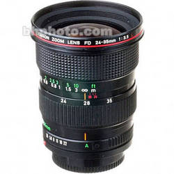 Canon Zoom Wide Angle 24-35mm f/3.5 L FD Manual Focus Lens