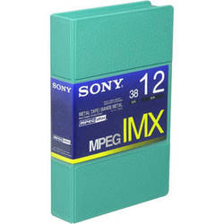 Sony BCT12MX MPEG IMX Video Cassette, Small