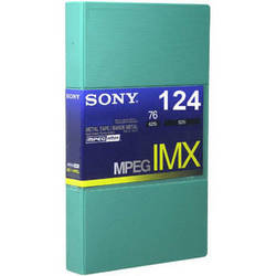 Sony BCT124MXL MPEG IMX Video Cassette, Large