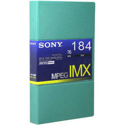 Sony BCT184MXL MPEG IMX Video Cassette, Large