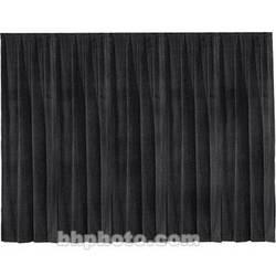 "Draper Drapery Panel (16' x 50"", Velour, Black)"