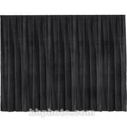 "Draper Drapery Panel - 12' x 50"" - Velour - Black"