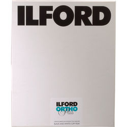 "Ilford Ortho Plus Black and White Negative Film (8 x 10"", 25 Sheets)"