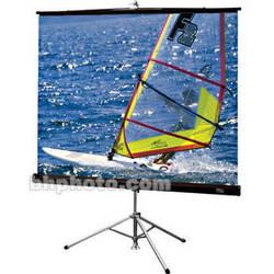 """Draper Diplomat/R Portable Tripod Projection Screen - 72 x 96"""" - Matte White"""