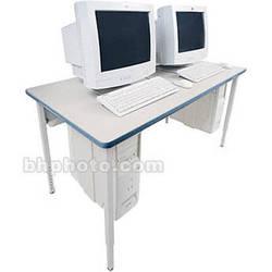 "Bretford 84 x 24"" Quattro Computer Table - Grey w/ Topaz"