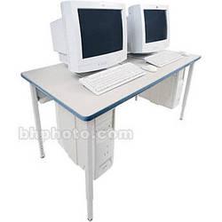 "Bretford 84 x 30"" Quattro Computer Table - Grey w/ Topaz"